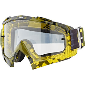O'Neal B-10 Lunettes de protection, pixel neon yellow/green-clear